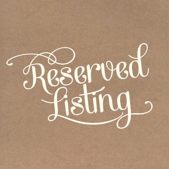 1500 Wood Ovals. Reserved for Karina