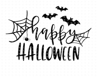 Happy Halloween Svg, cut files, Fall svg, Halloween Svg files, overlay svg, Svg clipart, Fall svg, Handlettered svg
