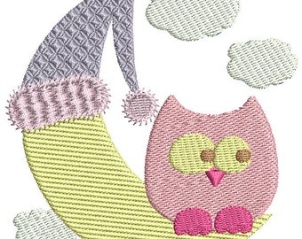 Instant download Owl machine embroidery design