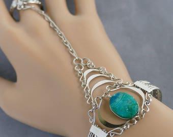 Slave Bracelet Hand Chain Ring Bracelet Bracelet Hand Jewelry hand chain bracelet silver bracelet silver bracelet boho bracelet slave ring