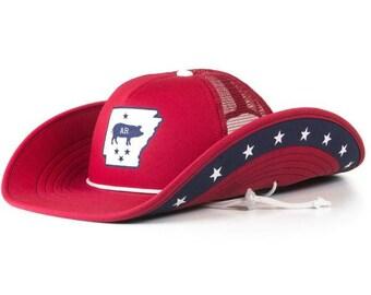 Arkansas Swine Cowbucker Cowboy Trucker Hat