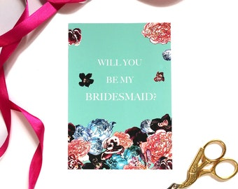 Will you be my Bridesmaid? Card Spring Orient Pack