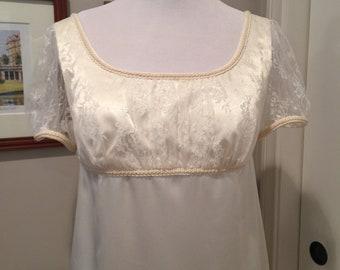 Jane Austen Regency Gown b y Iblamejanetoo - U.S. Size 8