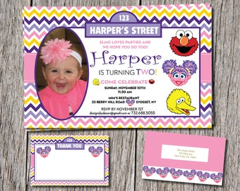 Abby Cadabby Birthday Invitations with PHOTO...1st, 2nd or even 3rd
