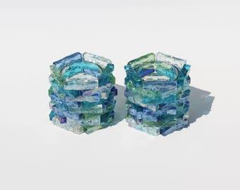 Glass Candle Holder - Sea Glass Mosaic Candle Holder - Tealight Votive - Beach Decor - Ocean Decor - Unique Gift - Beach Lover - Table Decor