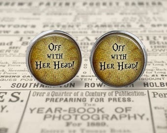 Off With Her Head Earrings or Ring