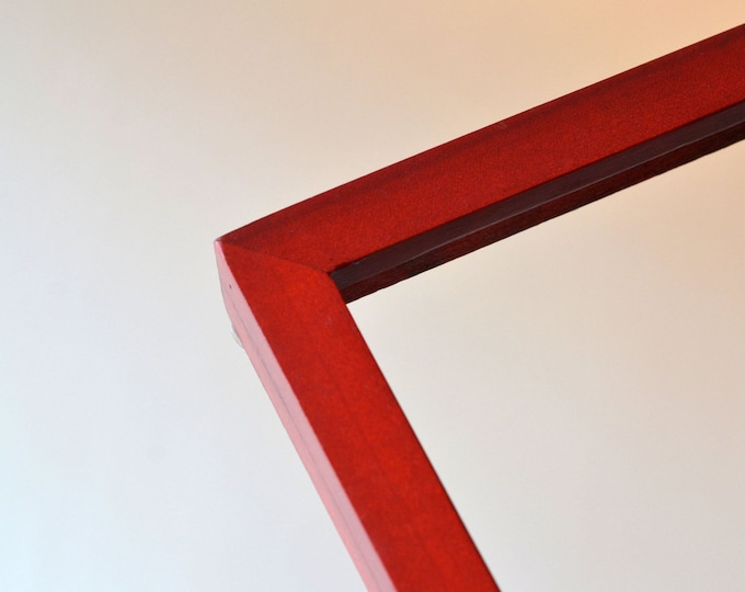 Solid Color of Your Choice in Deep Flat Style - Choose your frame size: 3x3 up to 11x14 / 12.5 x 12.5 inches - FREE SHIPPING
