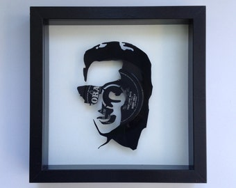 Buddy Holly 'Wishing' Vinyl Record Art