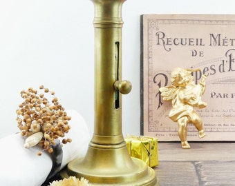 Old candle holder - candle - candle holder brass - 19th century - push the candle holder - spirit boudoir - chandelier - french decor