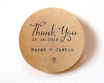 Thank you labels Wedding Thank You Stickers personalized Wedding Stickers for favors Wedding Favor Stickers 1.5 inch