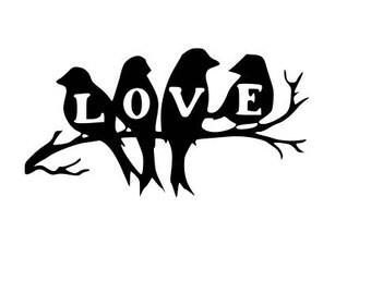 Bird love svg file