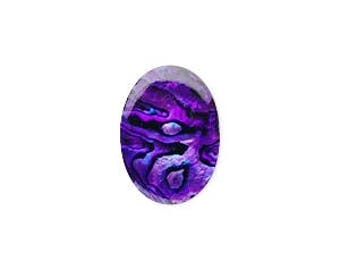 Purple Paua Cabochon, Paua Shell, Purple Cabochon, Oval 18x13x1mm, 1 Each, D1006