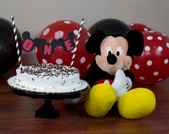 Mickey Mouse Cake Topper First Birthday One Cake Topper