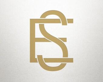 Custom Logo Initials - ES SE - Logo Initials - Digital