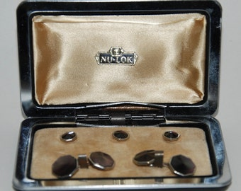 Genuine Vintage 1950s-'60s Formal Tuxedo Studs and Links Set -- Free Shipping!