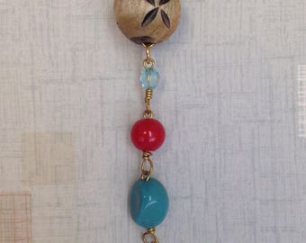 Beaded Pendant Charm Necklace, Faux Leather Necklace, Simply Cute Collection