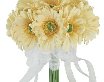 Yellow Daisy Bouquet Large - Silk Bridal Wedding Bouquet