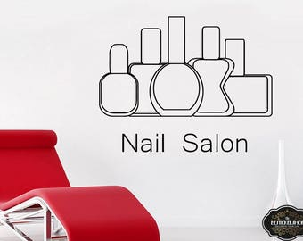 Wall Decal Nail Salon Art Beauty Salon Nail Stylist Nail Art Polish Manicure Woman Gift 1295t