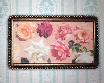 Miniature 1:12 Dollhouse Painting - Leon Jan Wyczolkowski - Large Study of Roses