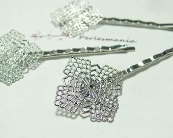 1 hair clip flowers Art deco PP