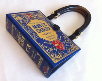 The Count of Monte Cristo Book Purse - Monte Cristo Book Cover Handbag - Alexandre Dumas Pocketbook - Classical Literature Book Bag
