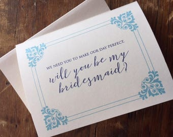Bridesmaid Gift Package Maid of Honor Gift, Bridesmaid Package, Bridesmaid card and Bridesmaid Personal Stationery Gift