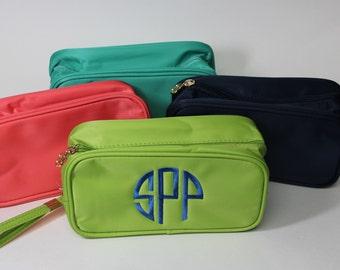 Monogram makeup bag - Purse makeup bag - Personalized cosmetic bag - monogram cosmetic bag