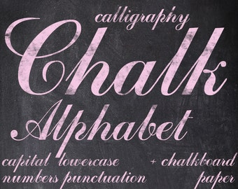 Digital Pink Chalkboards Alphabet for scrapbooking, chalk clipart, Papercrafts, Wedding Decor, Instant Download, printable lettering (3)