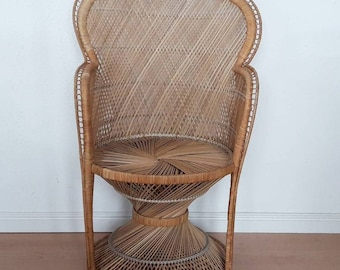 Vintage Rattan Peacock Chair Medium Size