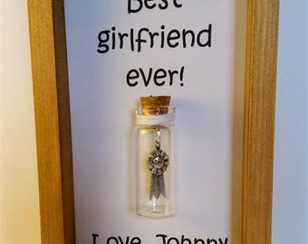 Best girlfriend award, Gifts for girlfriends, Girlfriend gift, Personalised gifts for girlfriend.   Add names or your own message.