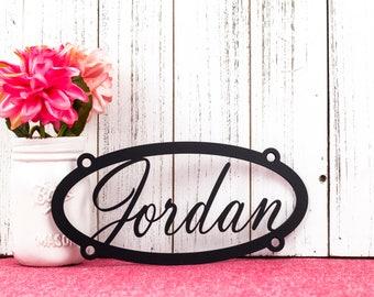 Custom Name Metal Sign | Metal Wall Art | Child Name Sign | Custom Metal Sign | Oval | Name Sign | Custom Name Sign | Sign