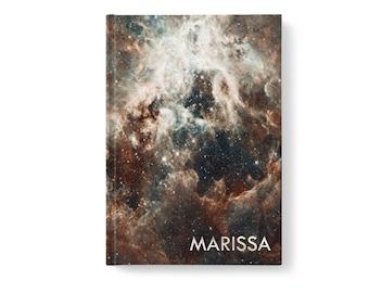 Galaxy Stars Personalized Journal, Modern Universe Pattern, Personalized Journals for Women, Gift jn0009