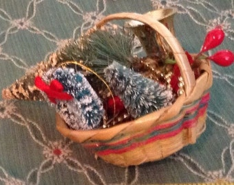 Basket Full Of Christmas Cheer for Your Dolls