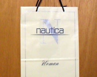 Vintage 1990s Nautica Woman by Nautica Perfume Promotional Paper Shopping Bag Designer Fragrance Collectible