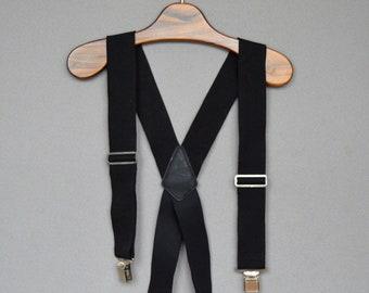 Vintage suspenders Casual Mens SUSPENDERS Black Suspenders Wide Fully Adjustable Elasticated Metal Clip Suspenders Braces