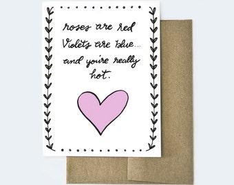 Card for Boyfriend, Naughty Card, Dirty Valentines Day Card, Funny Valentines Day Card, Valentines Day Card for Boyfriend, Card for Husband
