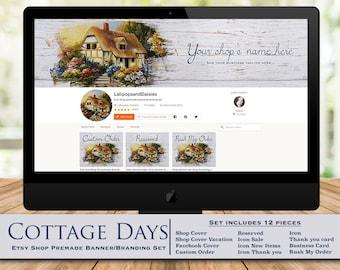 """cottage-cottage graphic-cottage banner-cottage cover-cottage banner set-shop banner-shop banner set-cottage branding set-""""Cottage Days"""""""
