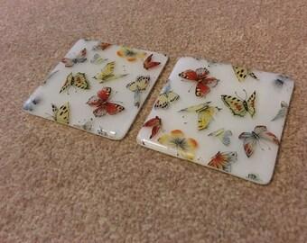 Dessous de verre imprimé beaux papillons