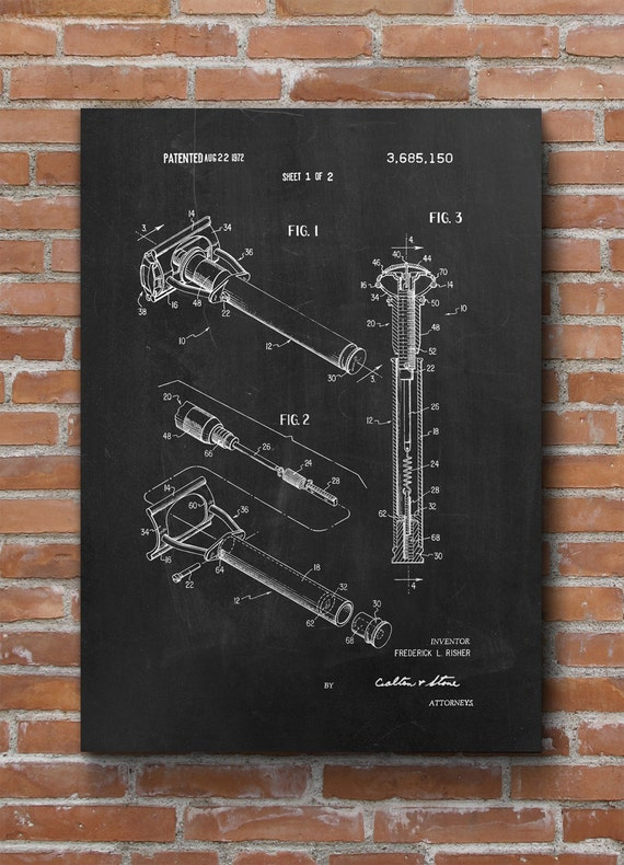 Shaving Inventions Shaving Patent Print Bathroom Decor