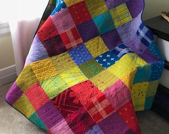 Bright Patchwork Lap Quilt