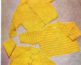 Baby Jacket Pattern, QK pattern, Quick Knit, Baby Knit Pattern, PDF Knitting Pattern, Instant Download, Knitted Cardigan, Vintage Pattern,