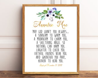 Irish Blessing Personalized Baby Baby Gift Christening Gift Confirmation Gift, New Baby Gift, First Communion Gift, Baptism Gift Baptism 60