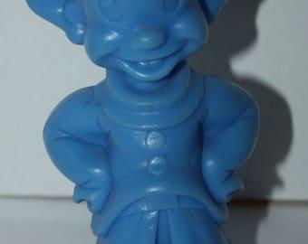"1971 Marx Snow White Dopey Blue Plastic 6"" Toy Figure Walt Disney"