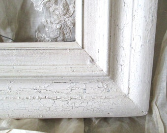 Chunky Toasted Almond Shabby Painted Wood Frame
