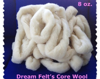 Core Wool Roving  for Needle Felting 8 oz.