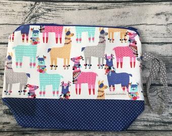 Project bag- llama fabric