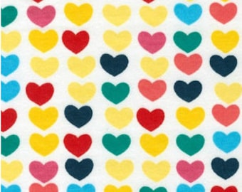 KNIT - Bright Hearts from Robert Kaufman's Remix Collection by Ann Kelle