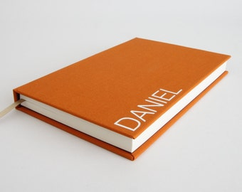 Personalised Book - Notebook / Journal / Sketchbook in a Range of Colours. Holiday Gift