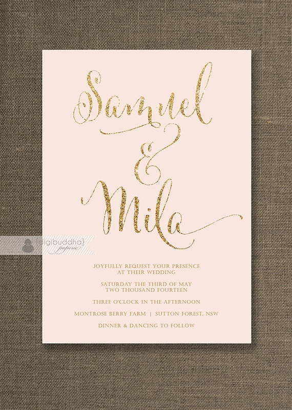 pink and gold wedding invitations blush pink amp gold wedding invitation gold glitter modern 6559