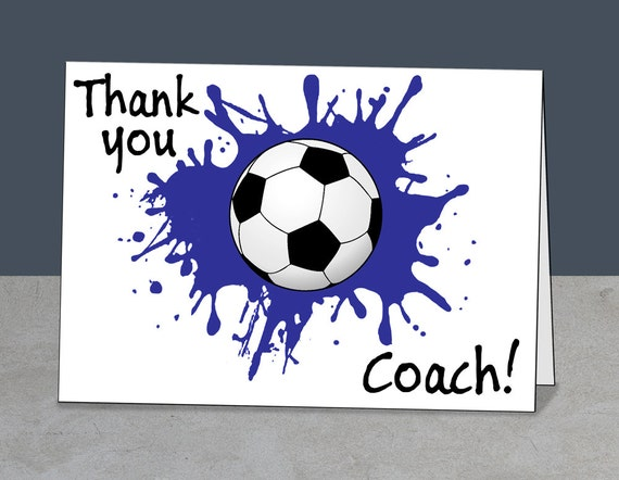 soccer thank you soccer coach card coach gift instant